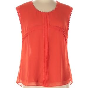 E&M Collection Red Cross Cap Sleeve Blouse